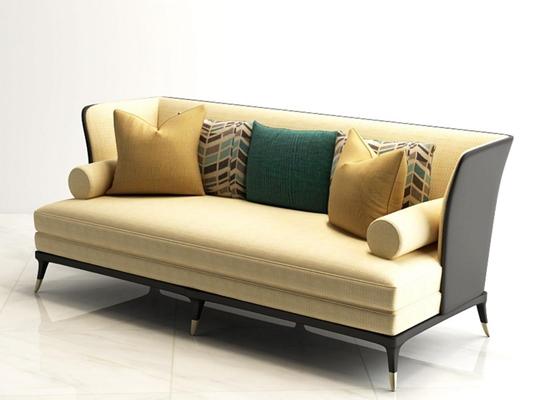 三人沙發3D模型【ID:928165829】