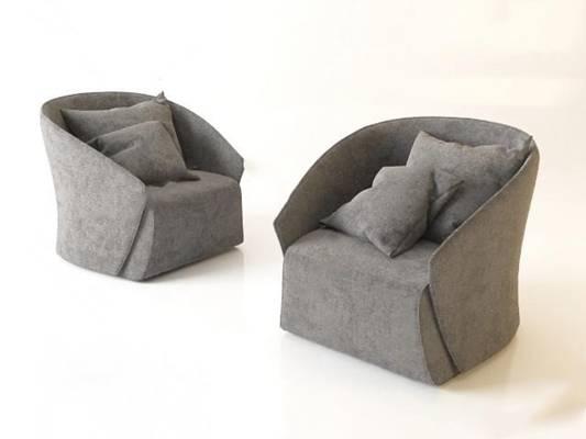 单人沙发3D模型下载【ID:919401675】