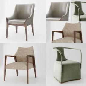 现代椅子组合3D模型【ID:227880418】
