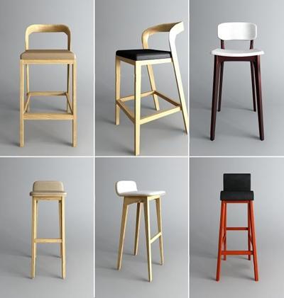 �F代吧椅�M合3D模型【ID:327905127】