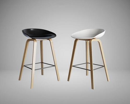 北歐吧椅組合3D模型【ID:327903186】