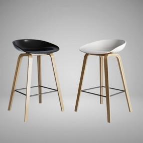 北欧吧椅组合3D模型【ID:327903186】