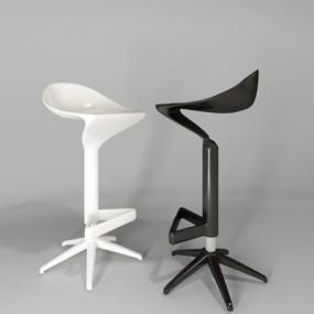 现代吧椅3D模型【ID:327903189】