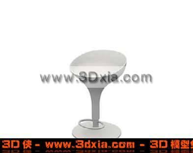 很普通的吧台椅子3D模型【ID:1973】