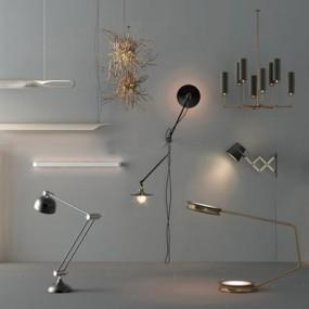 现代吊灯组合3D模型【ID:928167872】