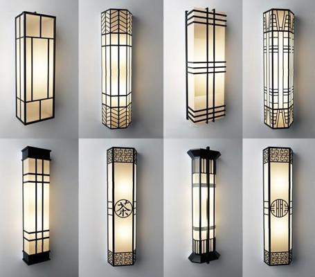 外墙壁灯组合3D模型【ID:527999982】