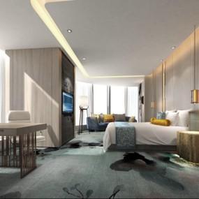 酒店客房3D模型【ID:427938646】