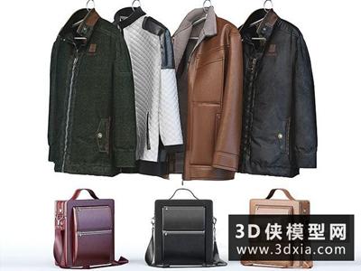 男式衣服背包組合國外3D模型【ID:929388600】