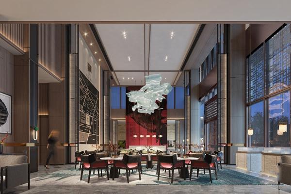 新中式售楼处洽谈区3D模型【ID:948245653】