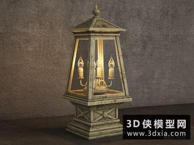 欧式烛台灯国外3D模型【ID:829710963】
