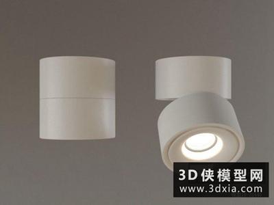 明裝射燈國外3D模型【ID:929420197】
