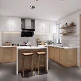 北欧厨房3D模型【ID:520811098】