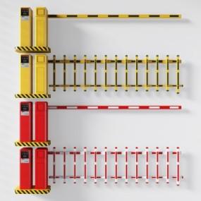 现代收费杆停车杆组合3D模型【ID:227781792】