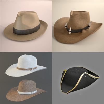 现代帽子3D模型【ID:620608089】