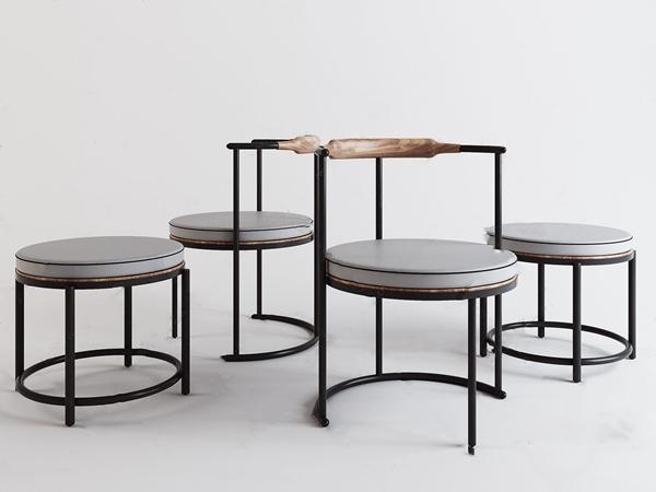 現代鋼管休閑椅子3D模型【ID:431432351】