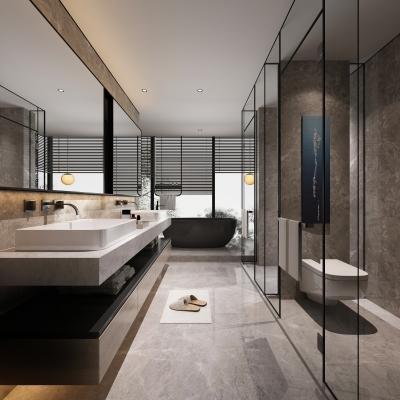 现代卫生间浴室淋浴间3D模型【ID:127771619】