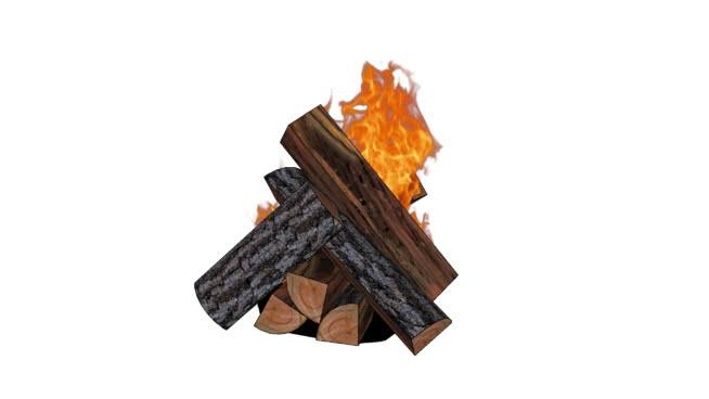 壁爐用木材原木SU模型【ID:939500556】
