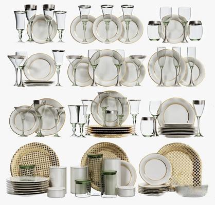 现代餐具3D模型【ID:920618359】