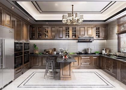 新中式厨房3D模型【ID:131393412】