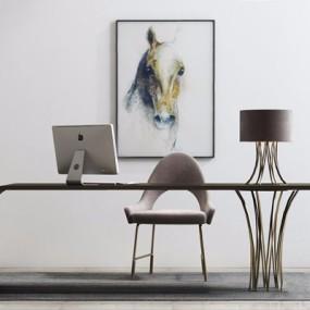 现代办公桌椅组合3D模型【ID:427935110】