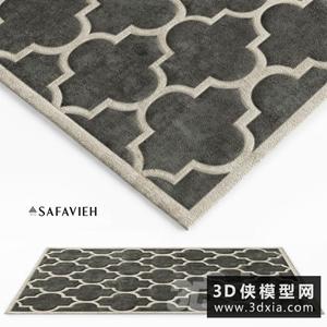 现代地毯国外3D模型【ID:329316867】