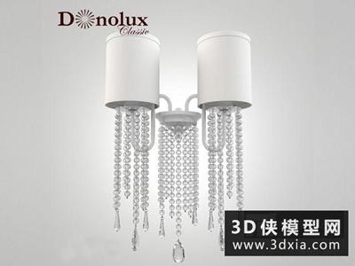歐式壁燈國外3D模型【ID:829650884】