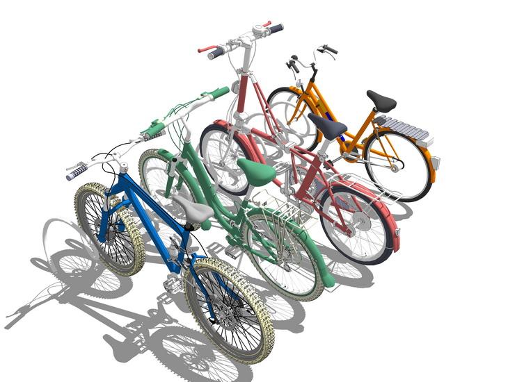 自行车SU模型【ID:436348970】