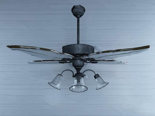 东南亚吊扇灯3D模型【ID:320615620】