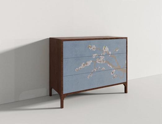 新中式床頭柜MZ3D模型【ID:928195686】