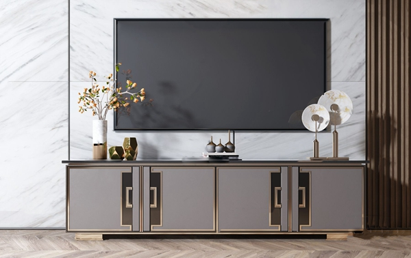現代金屬電視柜3D模型【ID:947179920】
