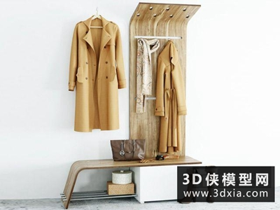 衣服圍巾組合國外3D模型【ID:929579693】