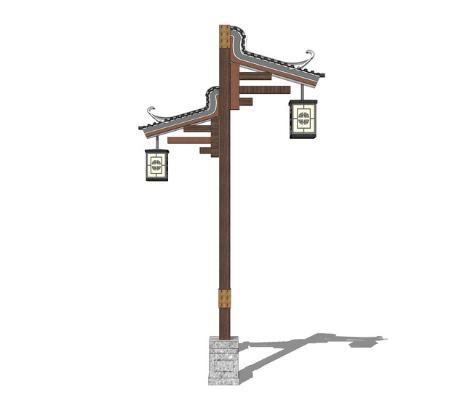中式路燈SU模型【ID:346381696】