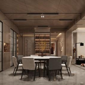 现代餐厅3D模型【ID:541633131】