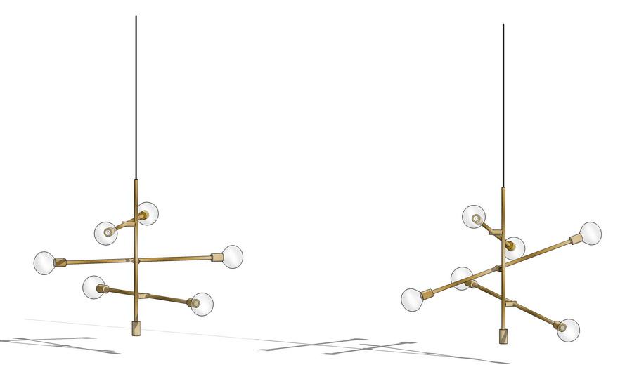 吊燈SU模型【ID:336349839】
