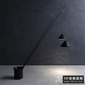 现代落地灯国外3D模型【ID:929325099】