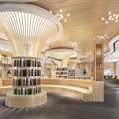 现代图书馆3D模型【ID:828474221】