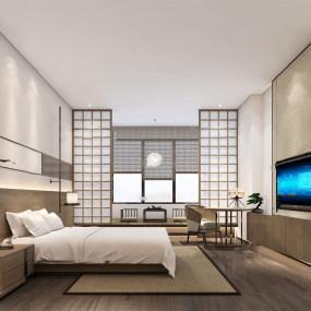 日式�P室3d模型【ID:543426287】