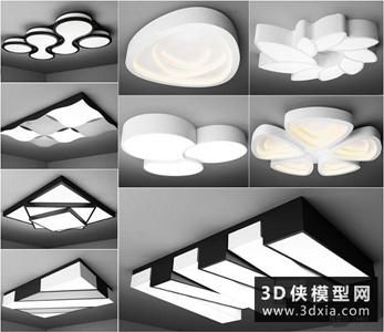 現代吸顶灯国外3D模型【ID:829344783】