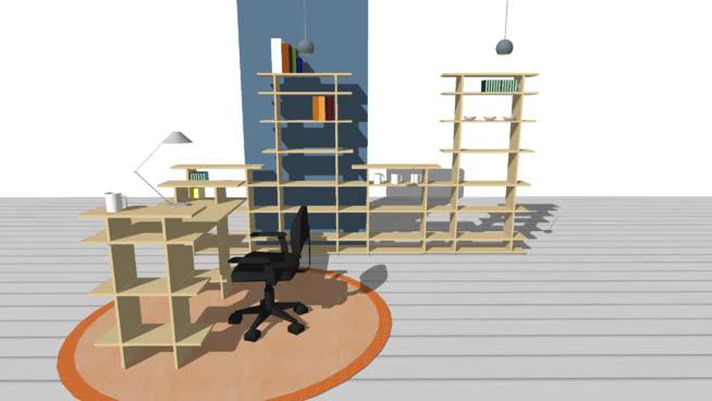 智能家具家庭办公室SU模型【ID:939513816】