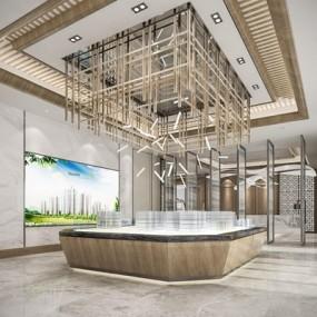 新中式售楼处3D模型【ID:427970557】