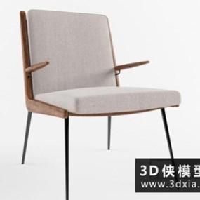 现代餐椅国外3D模型【ID:729748801】