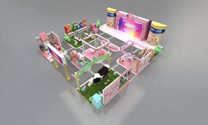 现代展示台3D模型【ID:626224083】