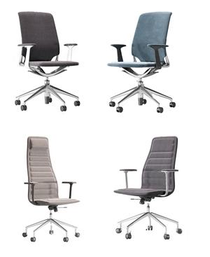 现代办公椅组合3D模型【ID:734735434】