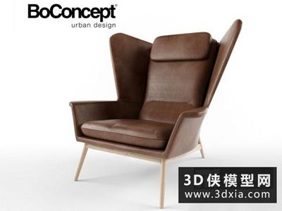 現代休閑椅國外3D模型【ID:729660821】