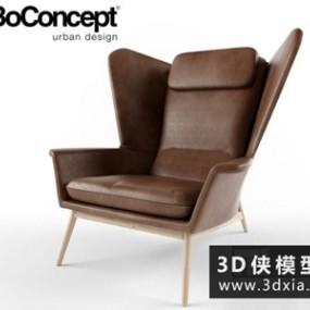 现代休闲椅国外3D模型【ID:729660821】