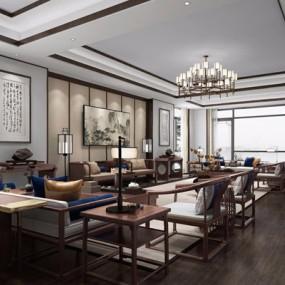 新中式贵宾室3D模型【ID:528027282】