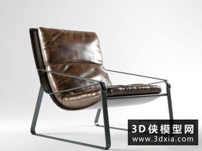 现代休闲椅国外3D模型【ID:729533876】