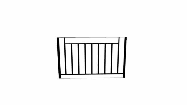 纹理的纹理网格护栏/SU模型【ID:939520687】