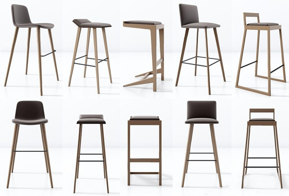 北歐吧椅3D模型【ID:327919184】