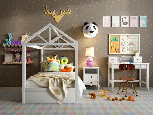 儿童房3D模型【ID:727950194】